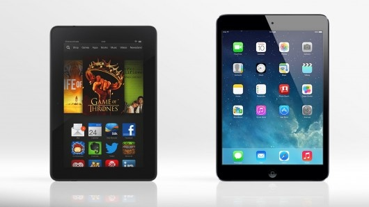 Gizmag compares the features and specs of the new Kindle Fire HDX and Apple's aging 1st-ge...