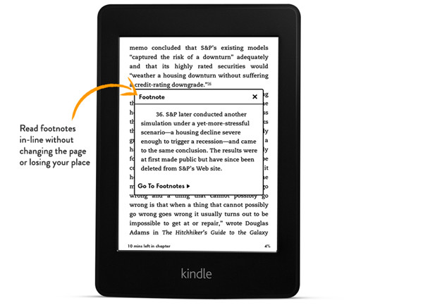 All-New Kindle Paperwhite In-line Footnotes