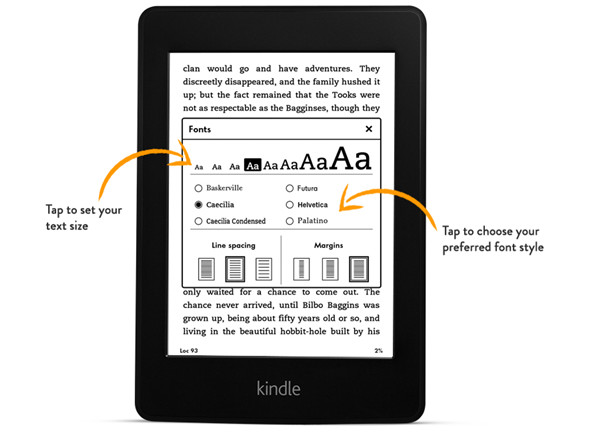 All-New Kindle Paperwhite Adjustable Text
